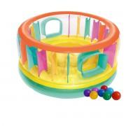 """Батут надувний  Bestway  """"Bounce Jam Bouncer""""  180х86 см  з кульками Жовто-зелений (В-052262х1)"""