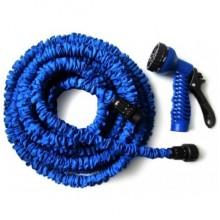 Шланг для полива 15 м растягивающийся с распылителем X-HOSE  Blue