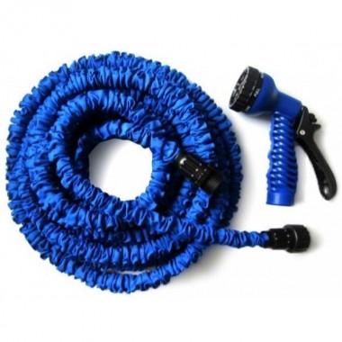 Шланг для поливу 15 м розтягується з розпилювачем X-HOSE  Blue