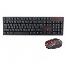 Удобная русская беспроводная клавиатура и мышь UKC HK6500 Plus С адаптером