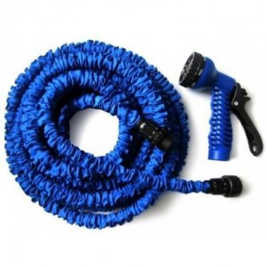 Шланг для поливу X-HOSE 30 м розтягується з розпилювачем Синій (N-30)