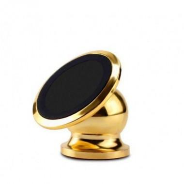 Автомобильный магнитный держатель для мобильного телефона Bracket Magnetic золотой универсальный