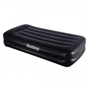 Ліжко надувне  Bestway  97х191х46 см  Одномісне з вмонтованим електронасосом Чорне (В-067401)