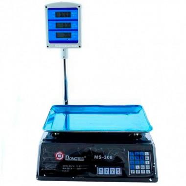 Весы торговые Domotec  MS 308 6V Acs 50kg/5g с калькулятором (D-0308)