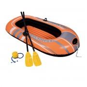 Човен надувний  Bestway Kondor 2000 Set  188х98 см + весла + насос ножний  Помаранчевий (В-061062)