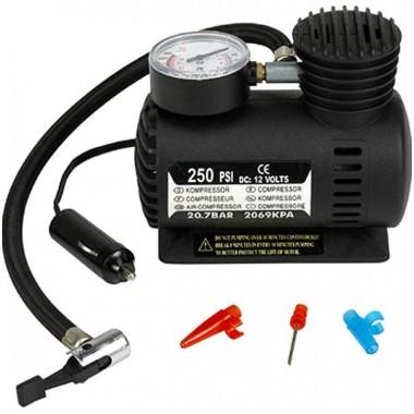 Автомобильный насос компрессор Air Compressor DC-12V / 250 PSI (W-250)