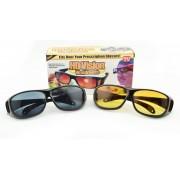 Антибликовые очки  HD Vision День и Ночь Original желтые+черные  2в1 (BW-2)