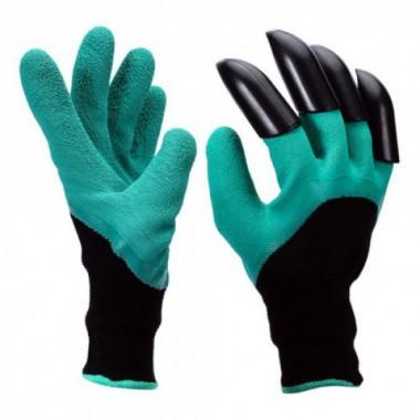 Печатки садовые Garden Genie Gloves с когтями Черно-зеленые (w01)