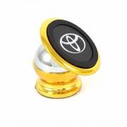 Автомобильный магнитный держатель для мобильного телефона Bracket Magnetic Toyota золотой универсальный
