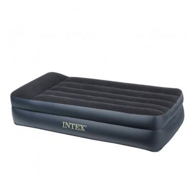 Ліжко надувне  Intex  99х191х42 см  Одномісне з вмонтованим електронасосом Чорне (І-064122)