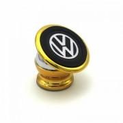Автомобильный магнитный держатель для мобильного телефона Bracket Magnetic Volkswagen  золотой универсальный